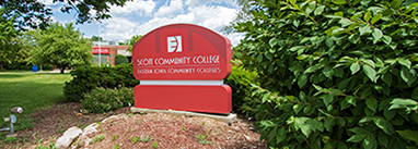 Scott Community College red outdoor sign