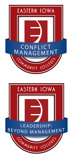 Microcredential badges for Conflict Management and Leadership Beyond Management