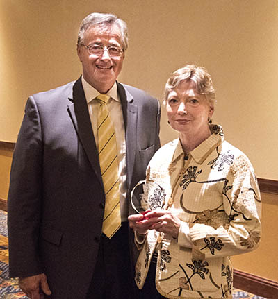 Alice Nielsen and EICC Chancellor Dr. Don Doucette