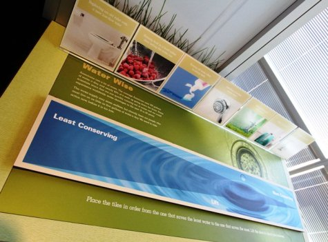 ATEEC Water conservation display