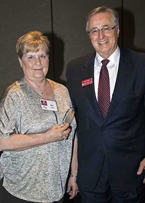 Mary Baker and Chancellor Don Doucette