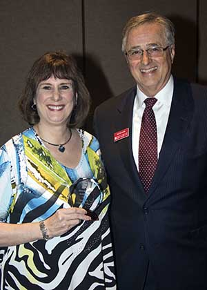 Heidi Hilbert and Chancellor Don Doucette