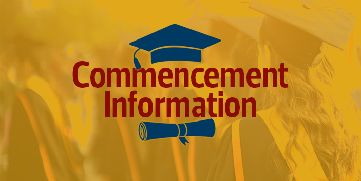 2021 Commencement Information, link goes to campus events and virtual ceremony information