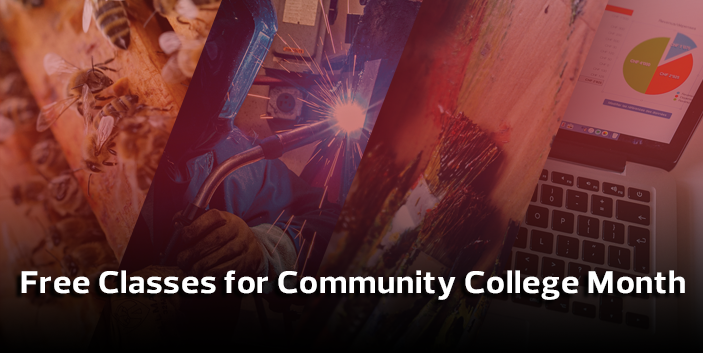 Free Classes for Community College Month, links goes to more information