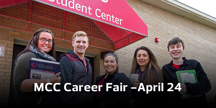 MCC Career Fair - April 24, link goes to event information