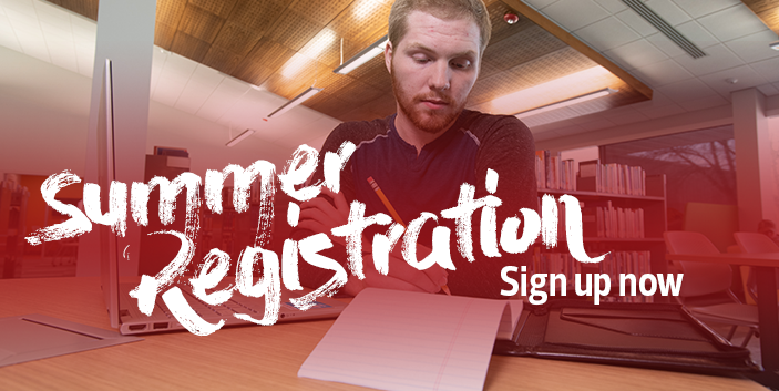 Summer registration, sign up now, link goes to summer class information