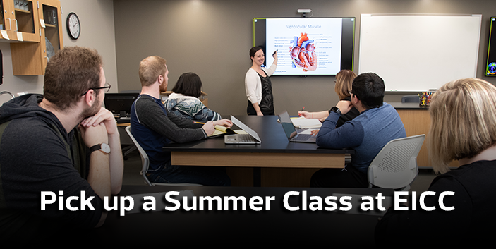 Pick up a summer class at EICC, link goes to guest student information